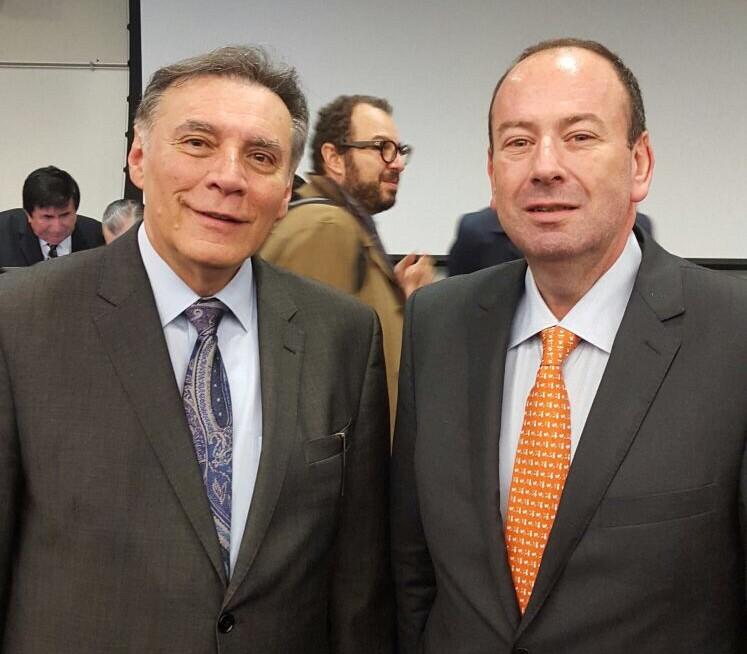 Jamil Mauad, ex Presidente de Ecuador en compañia de Emilio Cubas Gusinky, Director de EAC Busines Group