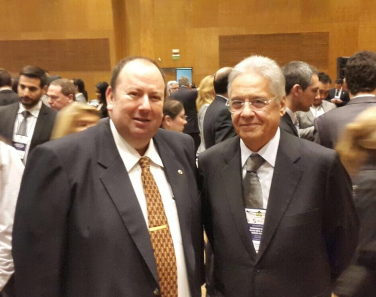 Emilio Cubas, Director de EAC Business Group junto a Henrique Cardozo, ex Presidente de Brasil