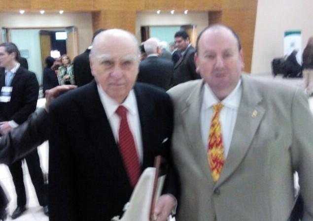 Julio Maria Sanguinetti, ex Presidente de Uruguay y Emilio Cubas Gusinky