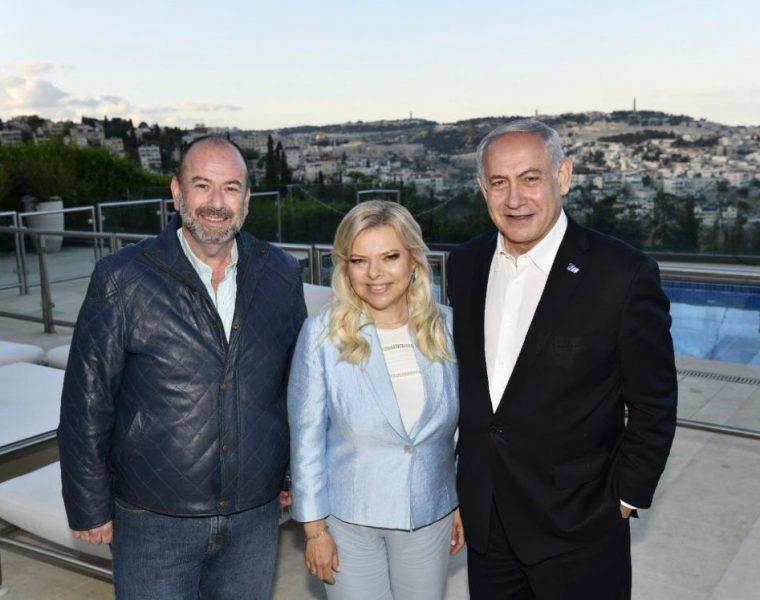 Con el Primer Mijistro de Israel Benjamin Netanyahu y si Sea Sara de Netanyahu