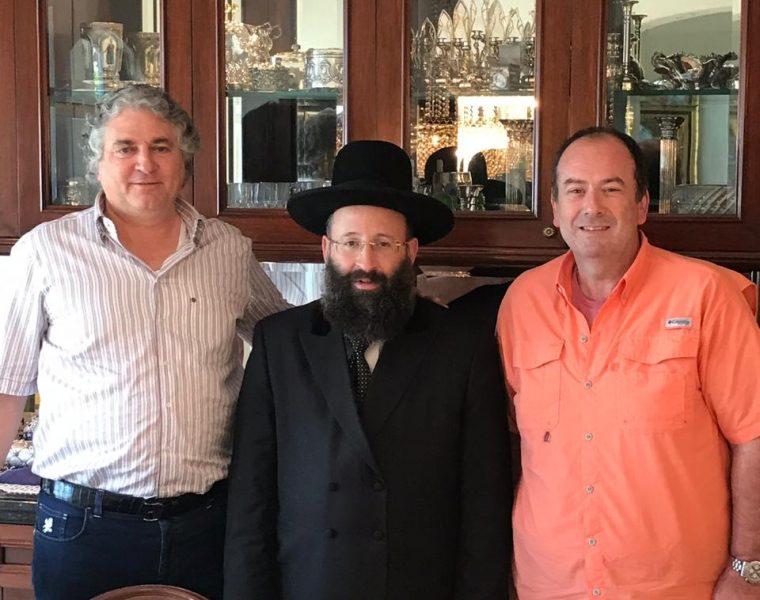 Con el Rabino Principal de Jerusalem Shmuel Rabinovich y el empresario Simón Falic