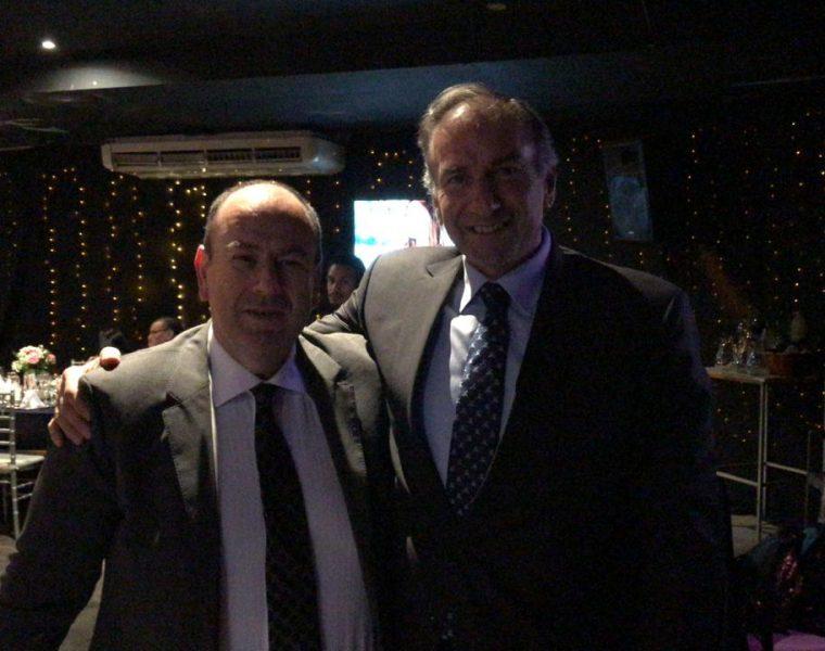 Con el senador Argentino y presidente del Pro Humberto Schiavoni